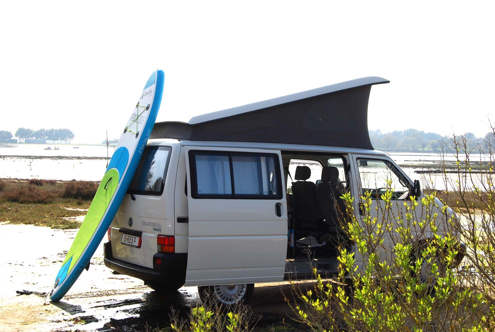 van aménagé sur plage bretonne - Breizh Wagen - Lorient (Morbihan)